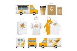 Food truck identity. Fast catering