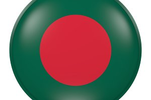 Silhouette of Bangladesh button