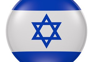 Silhouette of Israel button