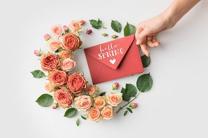 hand holding envelope with HELLO SPR