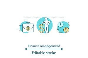 Finance management concept icon