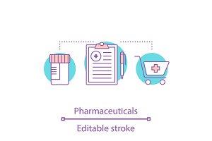 Pharmaceuticals concept icon