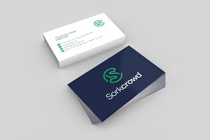 Double Sides Business Card Mock-up