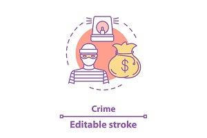 Crime concept icon