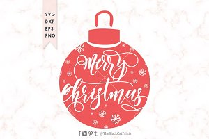 Merry Christmas ornament SVG DXF EPS