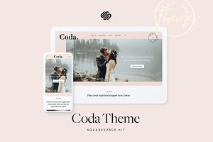 Coda Squarespace Kit Theme Template