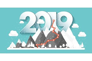 Mountains in Winter,2019 Peak with