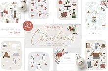 Charming Christmas card, map creator