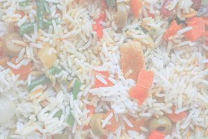 Curry rice, soft faded tone backgrou
