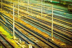 Railway vintage retro