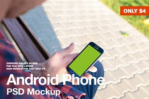 Galaxy S4 PSD Mockup