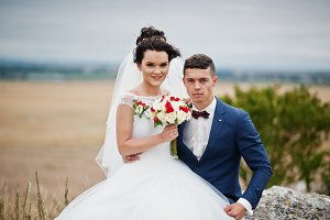 Beautiful bride and handsome groom a