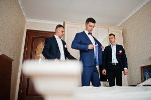 Awesome groom with his groomsmen hav