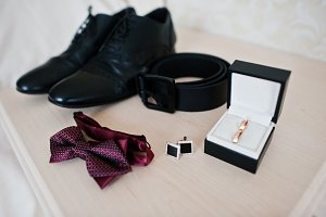 Men's accessories for groom, wedding