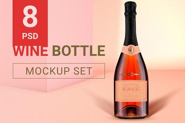 Update! Wine Bottle Mockup Set