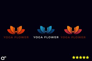 Yoga Flower Logo