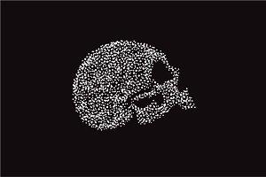 Scary skull icon, biker style logo