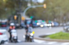 Defocused cars and motorcycles