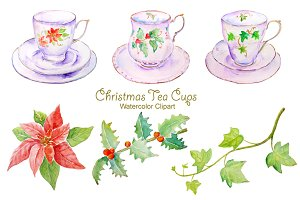 Christmas Tea Cup Set