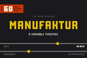 Manufaktur - A 60 fonts family