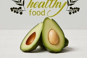 organic green avocado, clean eating