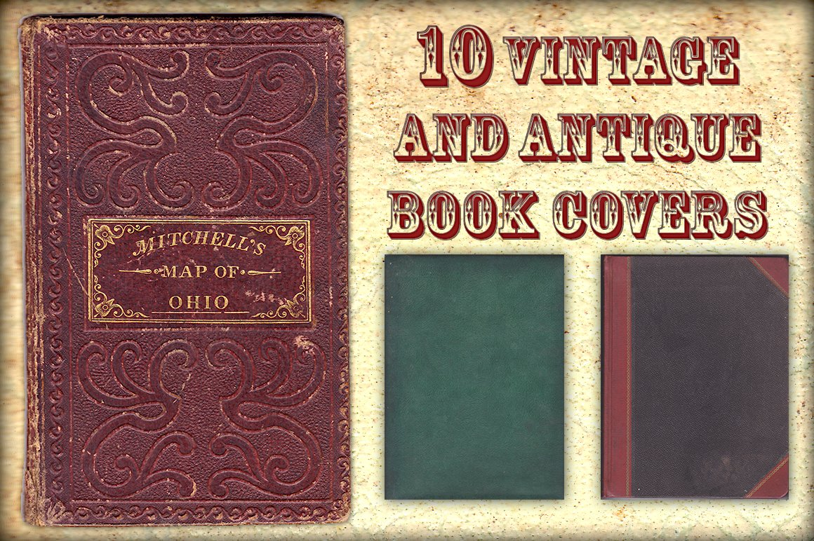 Vintage Cookbook Cover : Vintage and antique book covers textures creative