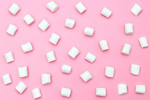White marshmallows. Backgrounds