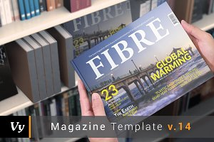Horizontal Fibre Magazine Template