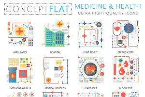 Medicine & health concept icons