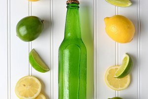 Bottle of Lemon Lime Soda