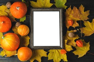 Empty thanksgiving greeting frame wi