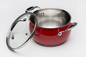 Red steel pan