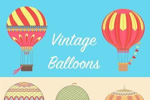 Vintage Hot Air Balloons.