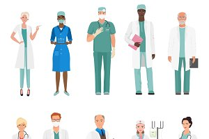 Hospital medical staff doctors.