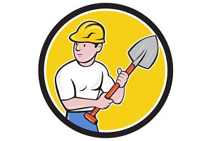 Builder Construction Worker Holding