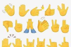 Emoji gestures hand icons