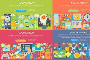 Social media concepts set.