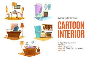 Cartoon Interior Set