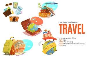 Travel Cartoon Set