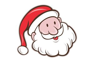 Santa Claus Father Christmas Head Sm