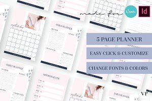 Lady Coach Planner Canva Indesign