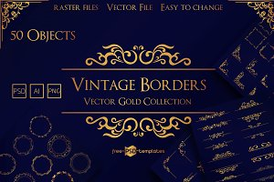 Vector Vintage Borders Collection