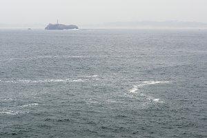 Island and lighthouse