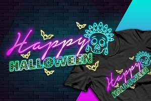 Halloween light (tshirt-mug-poster)