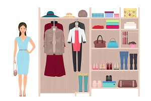 Beautiful fashion lady wardrobe.