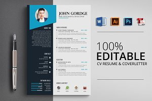 Job CV Resume Word File Template