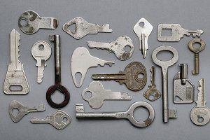 Keys on a Gray Background