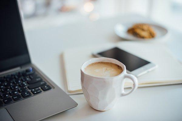 Business Images: Fancy Things - Modern white office, designer handma
