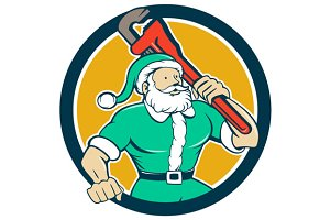 Santa Claus Plumber Monkey Wrench Ci