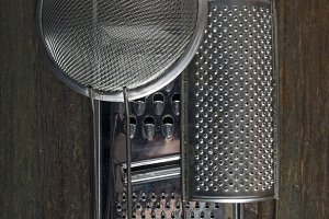 Graters and colander